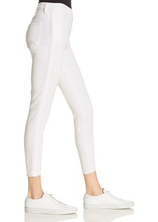 J Brand Alana High Rise Crop Skinny Jeans in Braided Blanc - 100% Exclusive