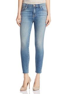 J Brand Alana High-Rise Crop Skinny Jeans in Delphi