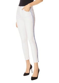 J Brand Alana High-Rise Ankle Skinny Jeans in White