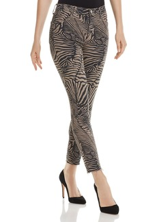 J Brand Alana High-Rise Crop Skinny Jeans in Zebra Van Patten - 100% Exclusive
