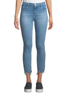 J Brand Alana High-Rise Crop Skinny Jeans with Destroyed Hem
