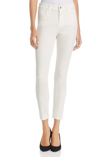 J Brand Alana High Rise Crop Velvet Skinny Jeans in Corset- 100% Exclusive