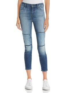 J Brand Alana High-Rise Cropped Skinny Jeans in Jasper Patched