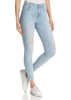 J Brand Alana High-Rise Cropped Skinny Jeans in Refresh Destruct