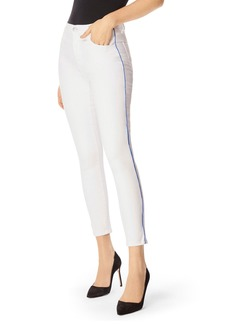 J Brand Alana High-Rise Cropped Skinny Jeans w/ Piping