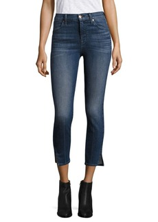 J BRAND Alana High-Rise Cropped Slit Skinny Jeans/Cover