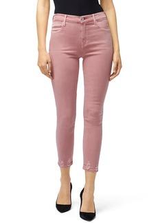 J Brand Alana High-Rise Cropped Tie-Dye Jeans