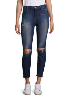 J BRAND Alana High Rise Distressed Cropped Jeans