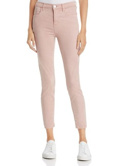 J Brand Alana High-Rise Sateen Jeans in Camelia - 100% Exclusive