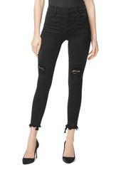 J Brand Alana High Rise Skinny Ankle Jeans in Veneration Destruct