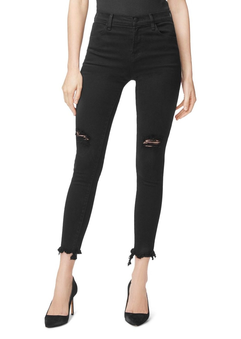 J Brand Alana High Rise Skinny Ankle Jeans in Veneration Destruct