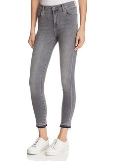 J Brand Alana High-Rise Skinny Cropped Jeans in Earl Grey