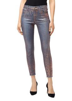 J Brand Alana High-Rise Skinny Jeans in Rose Snake Foil