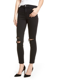 J Brand Alana High Waist Ankle Skinny Jeans (Black Mercy) (Nordstrom Exclusive)