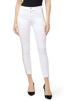 J Brand Alana High Waist Ankle Skinny Jeans (Blanc Zebra)
