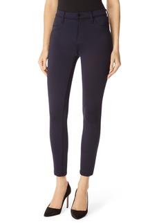 J Brand Alana High Waist Crop Scuba Knit Skinny Jeans