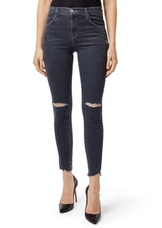 J Brand Alana High Waist Crop Skinny Jeans (Ashes Destruct)