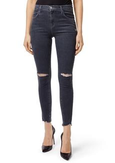 J Brand Alana High Waist Crop Skinny Jeans (Ashes Destruct)