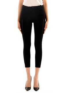 J Brand Alana High Waist Crop Skinny Jeans (Black Ladder Lace)