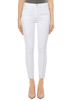 J Brand Alana High Waist Crop Skinny Jeans (White Ladder Lace)