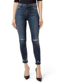 J Brand Alana High Waist Ripped Skinny Jeans (Flurry)