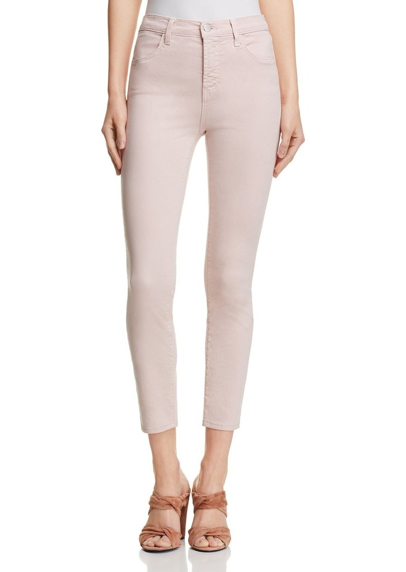 J Brand Alana Sateen Jeans in Peach Whip - 100% Exclusive