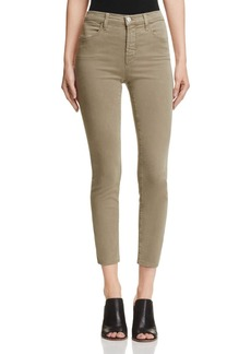 J Brand Alana Sateen Jeans in Silver Sage - 100% Exclusive