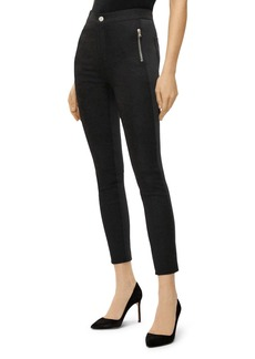J Brand Alana Scuba High-Rise Crop Skinny Jeans in Black