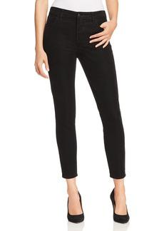 J Brand Alana Velvet Corduroy High Rise Jeans in Black