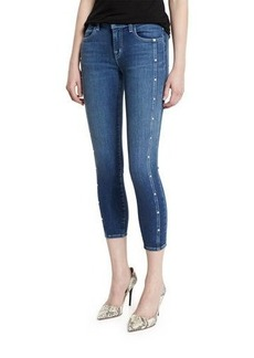 J Brand Alba Mid-Rise Skinny Cropped Jeans
