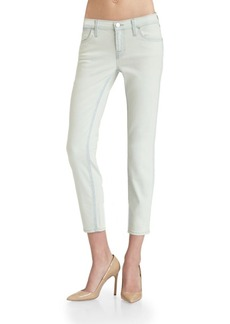 J BRAND Allegra Washed-Denim Capris