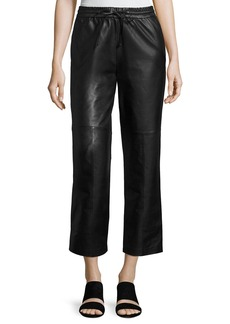 J Brand Amari Drawstring Leather Pants