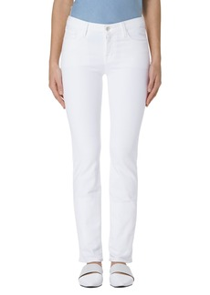J Brand Amelia Straight Leg Jeans (Blanc)