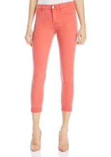 J Brand Anja Cuffed Crop Jeans in Roseate