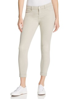 J Brand Anja Cuffed Cropped Jeans in Biscuit