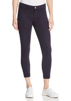 J Brand Anja Cuffed Cropped Jeans in Dark Navy