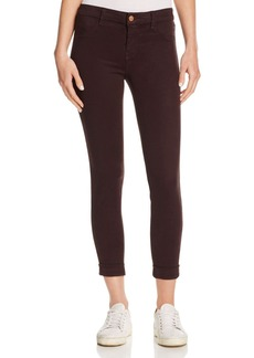 J Brand Anja Cuffed Cropped Skinny Jeans in Snifter