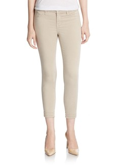J BRAND 8020 Anja Luxe Sateen Cropped Skinny Jeans