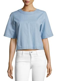 J Brand Archer Short-Sleeve Chambray Shirt
