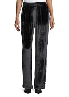 Ardon Wide-Leg Velvet Pants