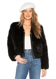 J Brand Ashbey Faux Fur Bomber
