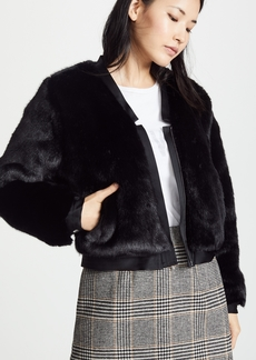 J Brand Ashbey Faux Fur Jacket