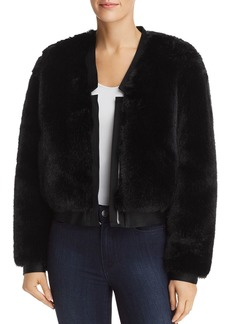 J Brand Ashbey Faux-Fur Jacket