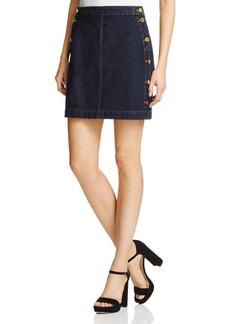 J Brand Ashlyn Exposed Button Denim Skirt in Silencio