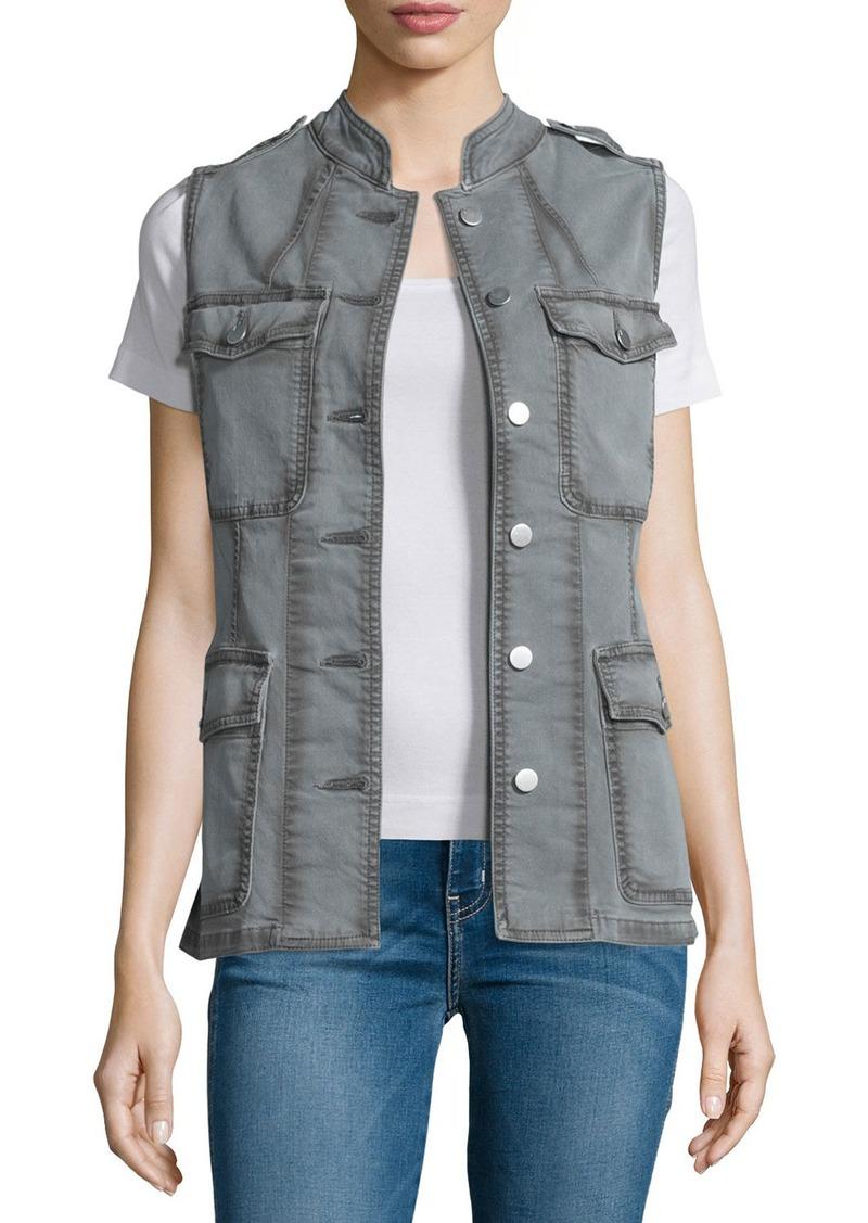 J Brand Astrid Button-Front Utility Vest