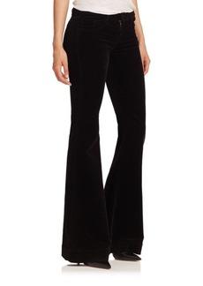 J BRAND Bella Luxe Velveteen Flared Jeans