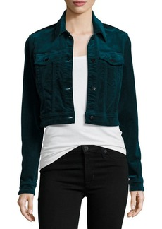 J Brand BG Exclusive Faye Shrunken Velvet Jacket