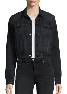 J Brand Black Capsule Harlow Washed Trucker Jacket