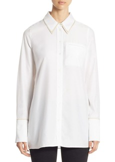 J Brand Blake Oversize Cotton Button-Down Shirt