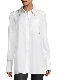 J Brand Blake Oversized Long-Sleeve Poplin Shirt
